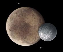Pluton, Charon, Nix et Hydra (vue artistique).