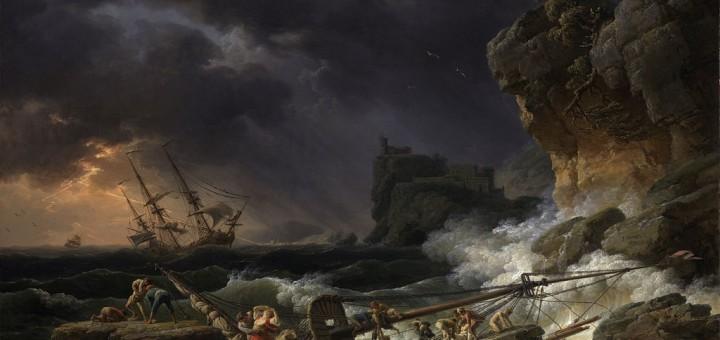 Tempête de mer avec épaves de navires (Vernet)