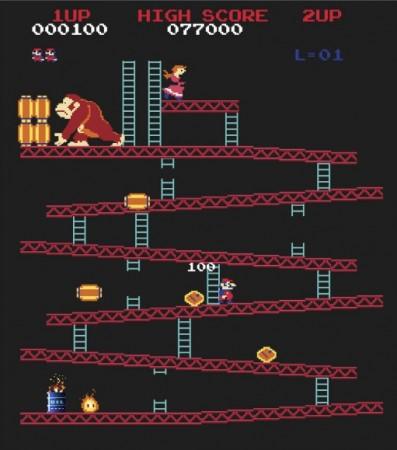 "Le jeu ""Donkey Kong"""